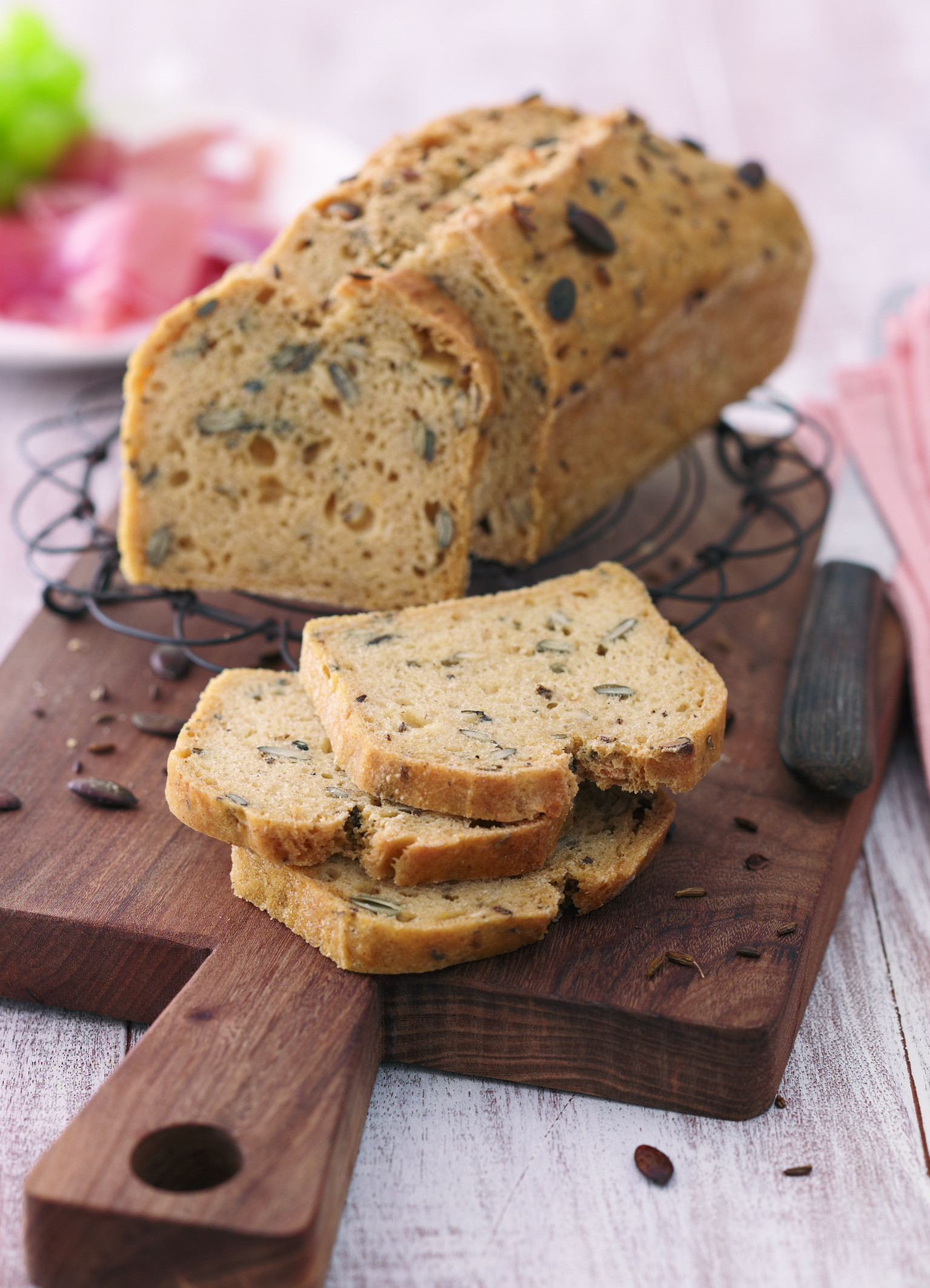 Fenchel-Kürbiskern-Brot