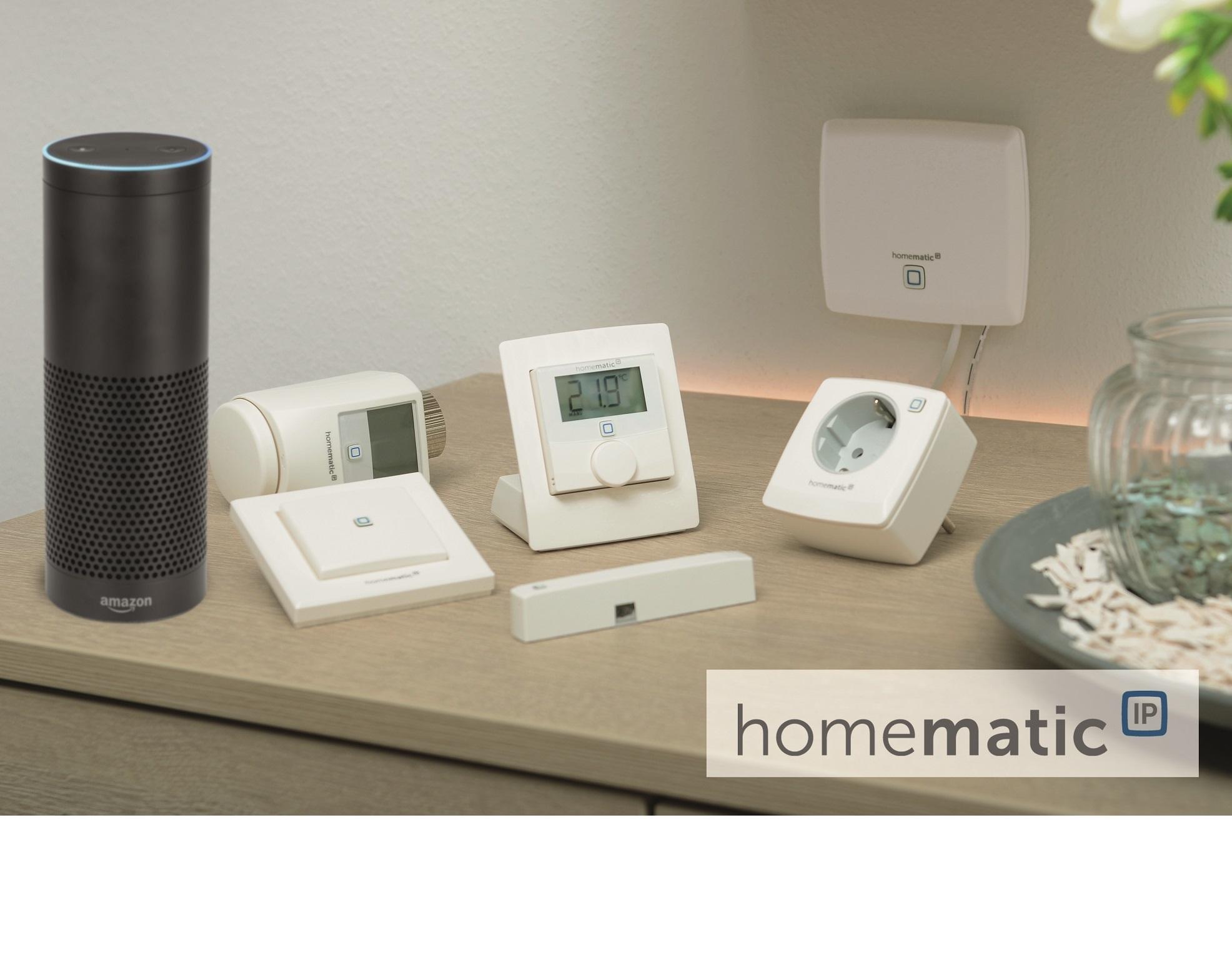 homematic ip mit amazon alexa steuern. Black Bedroom Furniture Sets. Home Design Ideas