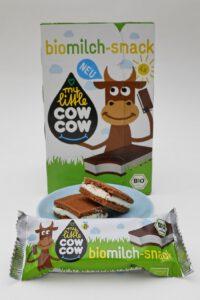 """Der neue Milchsnack """"My Little Cow Cow"""": ökologisch hergestellt, weniger Zucker."""