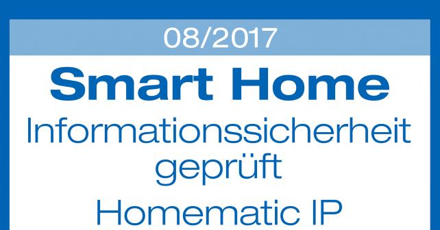 Sicherheit von Homematic IP