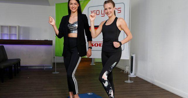 Rebecca Mir stellt Fitnessprogramm vor