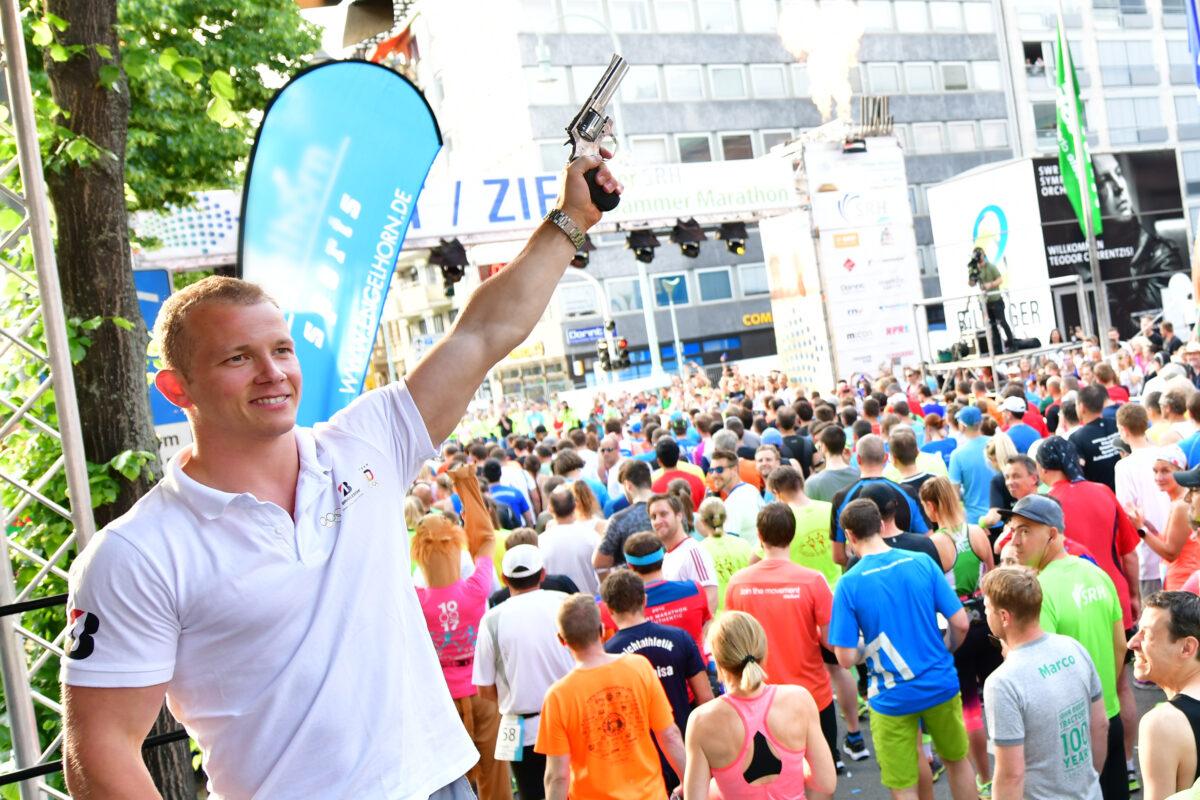 Fabian Hambüchen beim SRH Dämmer Marathon
