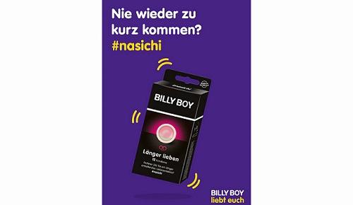 BILLY BOY Länger lieben Kampagne darf auch in Berliner Verkehrsmitteln gezeigt werden