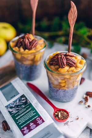 Chia-Pudding mit Weihnachtstee