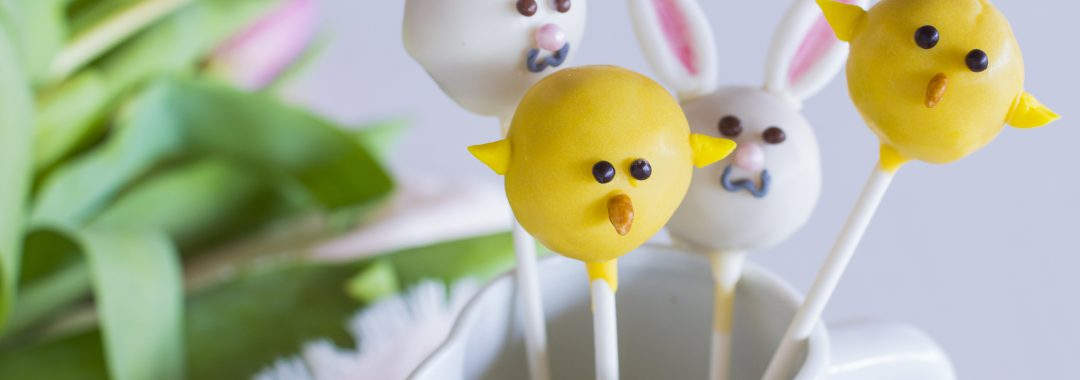 Lustige Oster-Cake-Pops mit Grafschafter Goldsaft