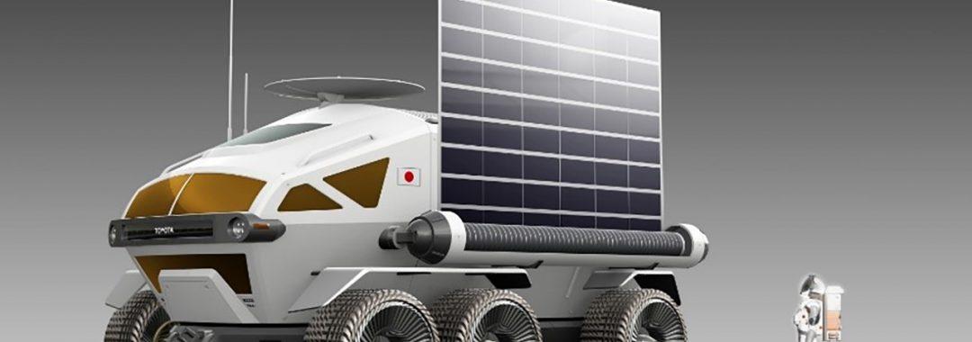 Bemannter und druckdichter Rover für die Erkundung der Mondoberfläche. (Copyright Toyota Motor Corporation)