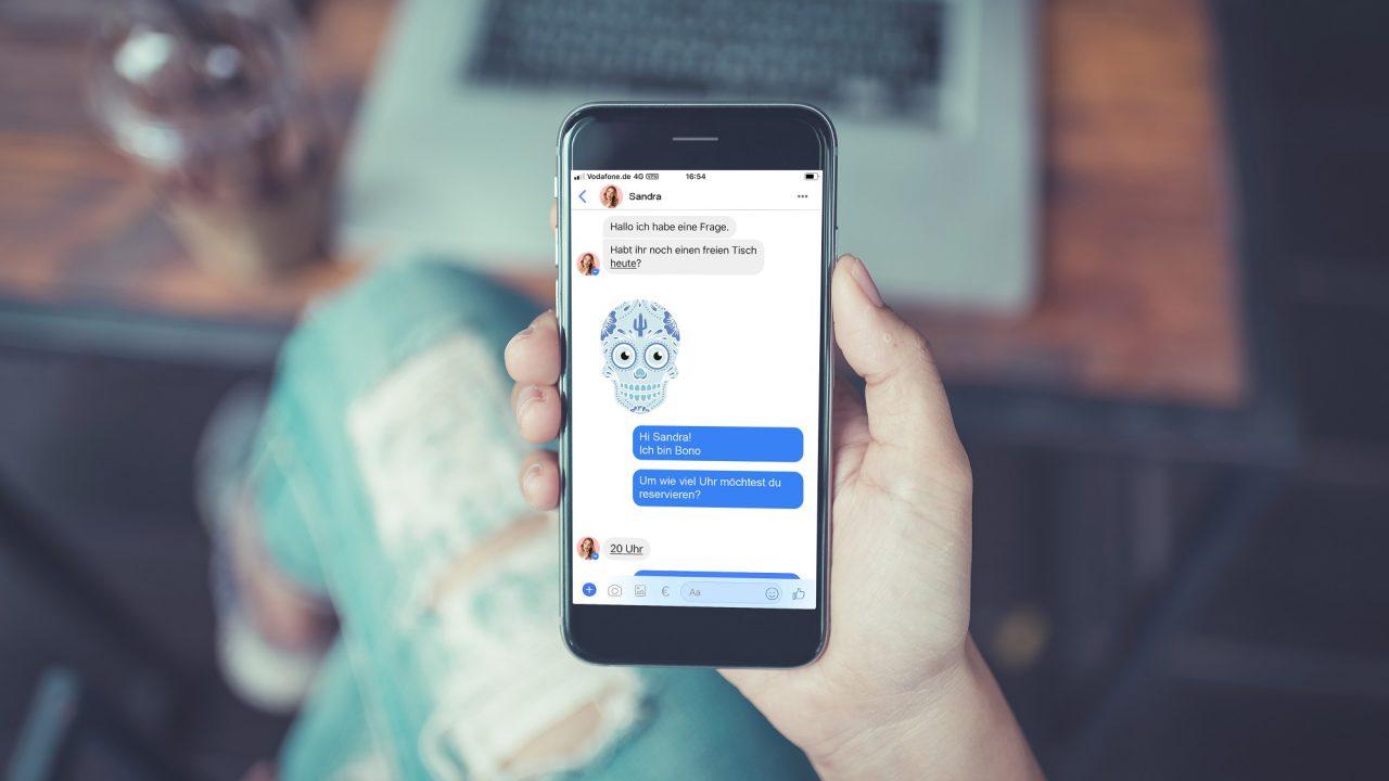 Tischreservierungen über Chatbot