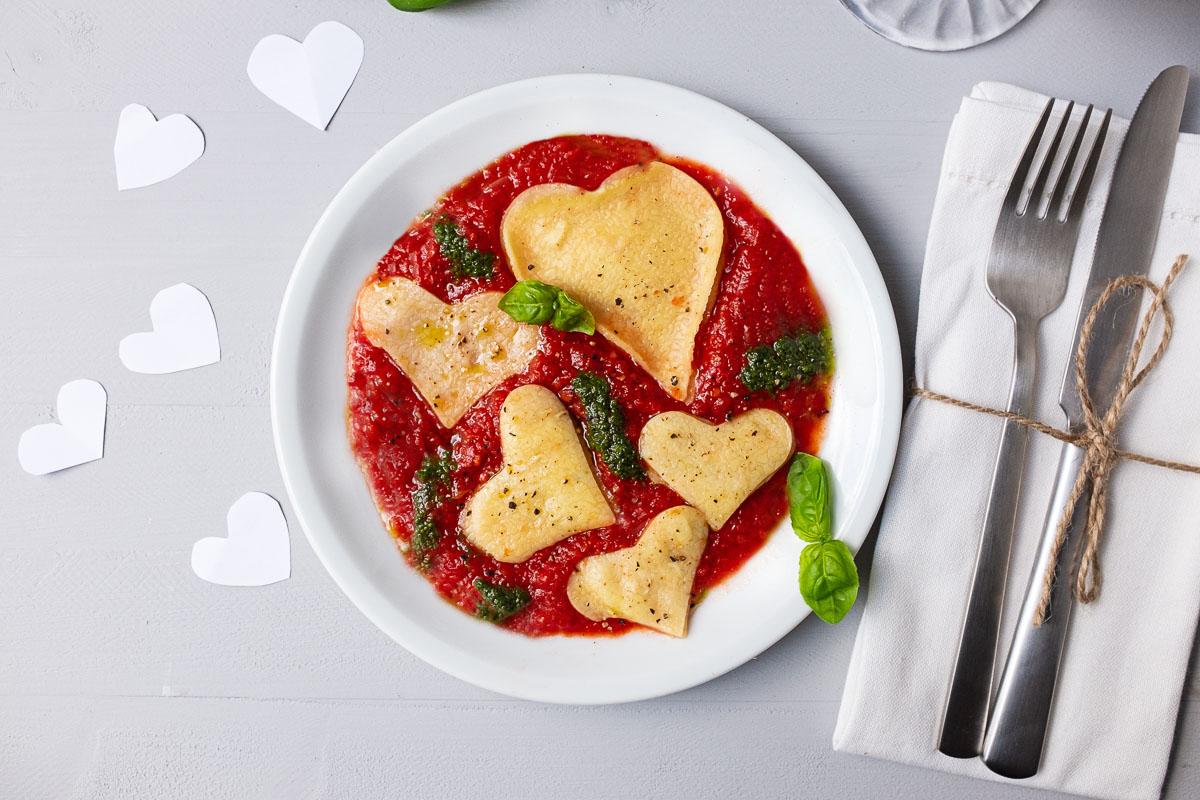 Rezept mit Herz: Pasta für Verliebte