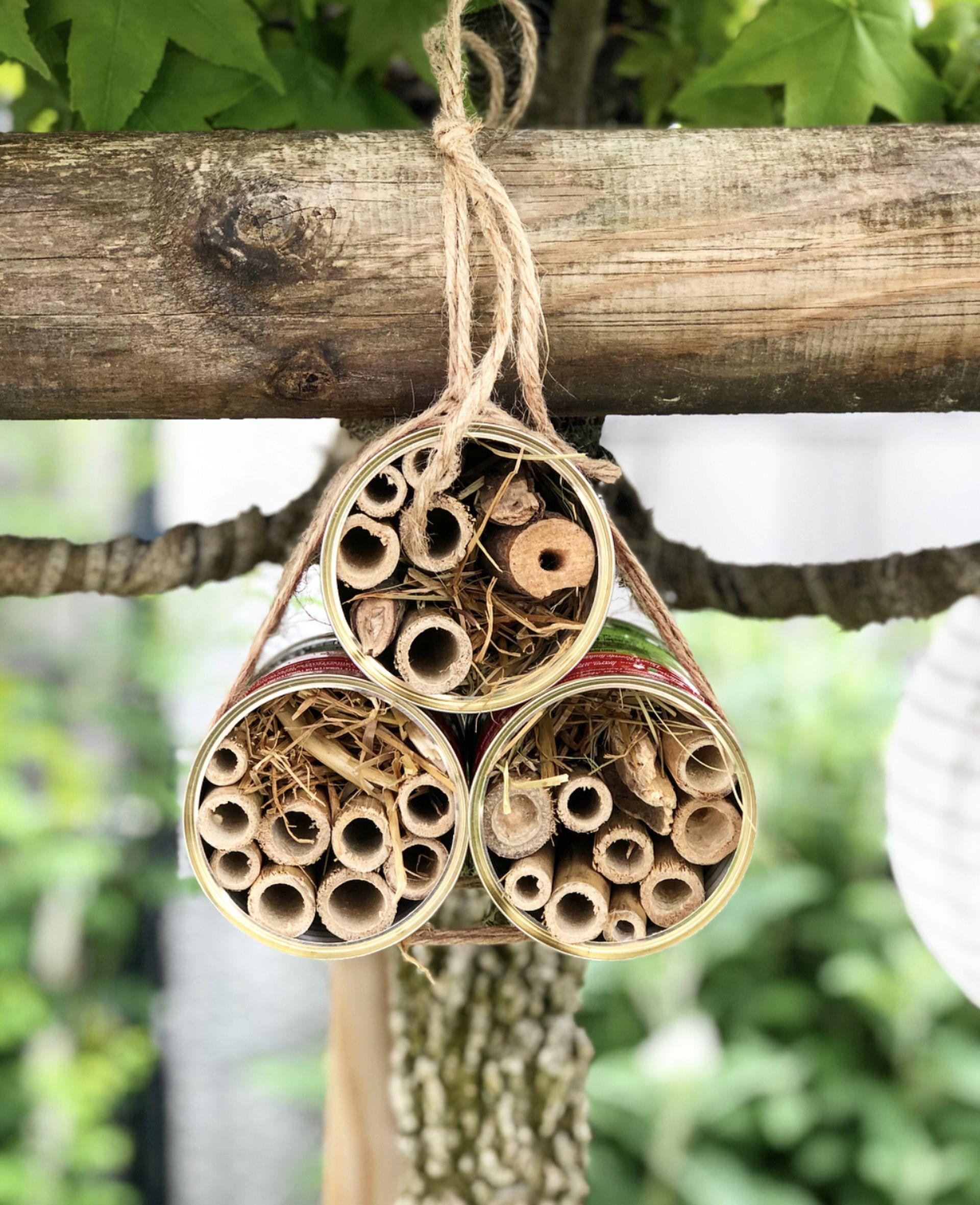 Mutti-Dosen als Insektenhotel