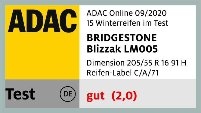 Bridgestone ist ADAC-Winterreifen-Testsieger 2020