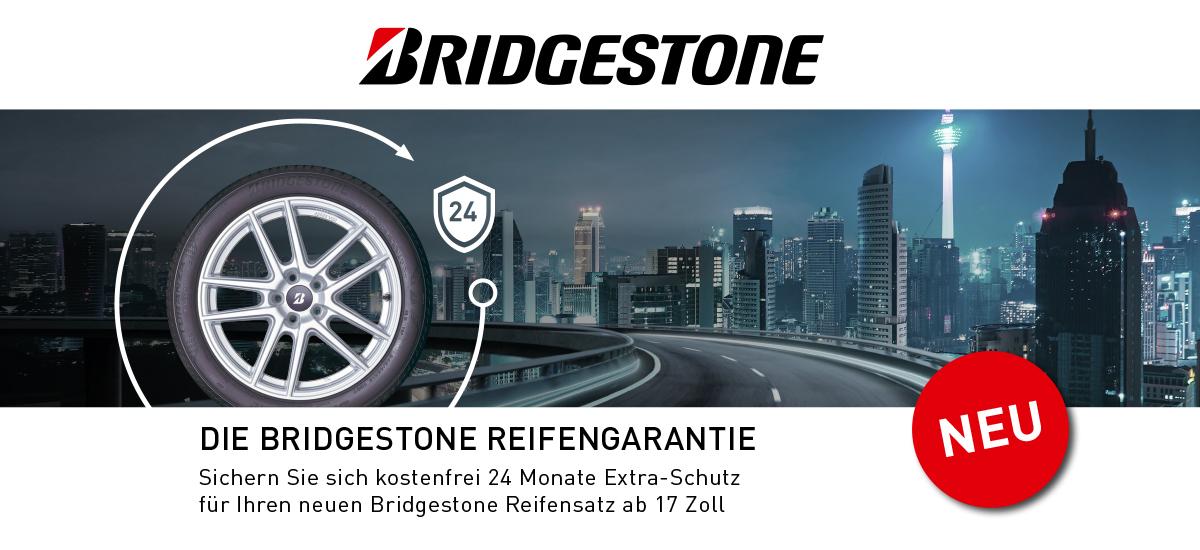 Kostenfreie Bridgestone Reifengarantie