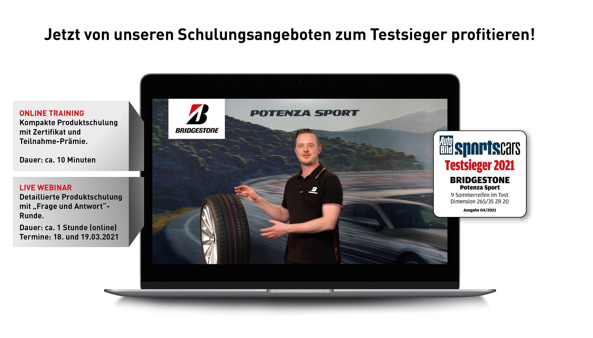 Bridgestone Online-Trainings und Webinare