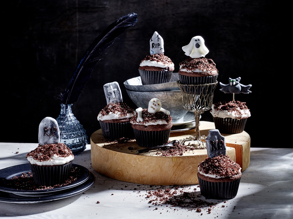 Vegane Halloween-Cupcakes